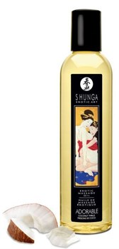 Массажное масло Adorable с ароматом кокоса - 250 мл.