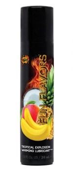 Разогревающий лубрикант Fun Flavors 4-in-1 Tropical Explosion с ароматом тропических фруктов - 30 мл.