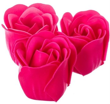 Мыльные розы в подарочной коробке  Навсегда в моём сердце  - 3 шт.