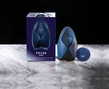 Синий инновационный мужской вибратор PULSE DUO