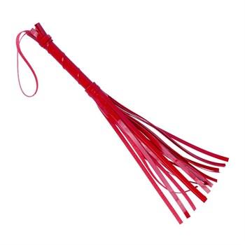 Красная лаковая плеть из искусственной кожи - 40 см.