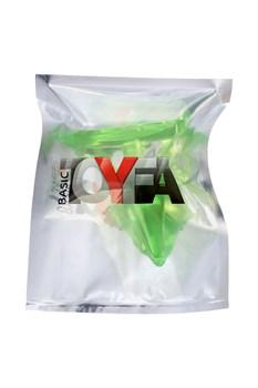 Зеленая анальная втулка с ограничителем - 6,5 см.