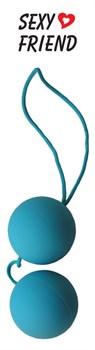 Голубые вагинальные шарики  BALLS на шнурке
