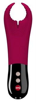 Малиновый фаллостимулятор Manta с вибрацией