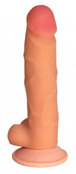 Телесный реалистичный фаллоимитатор с присоской №76 - 17 см.