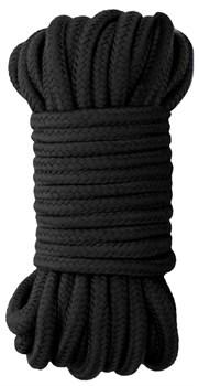 Черная веревка для бондажа Japanese Rope - 10 м.