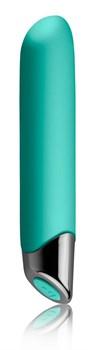 Зеленый перезаряжаемый вибратор Chaiamo - 16 см.