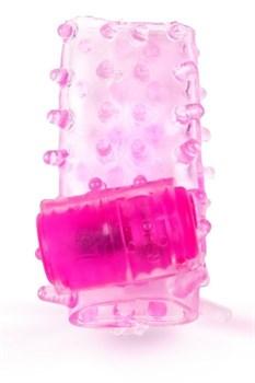 Розовая насадка на член с вибрацией