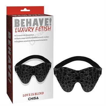 Черная маска на глаза Behave