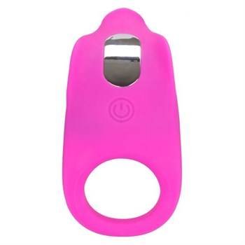 Ярко-розовое эрекционное виброкольцо Silicone Rechargeable Teasing Enhancer