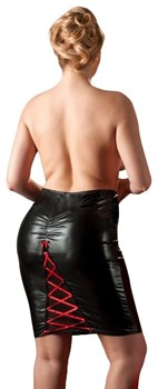 Облегающая юбка с эффектной шнуровкой сзади