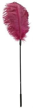 Розовое перышко для щекотания - 62 см.