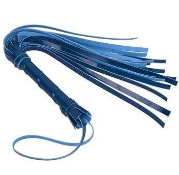 Синяя многохвостая лаковая плеть - 40 см.