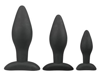 Набор из 3 анальных пробок Rocket Plug Set