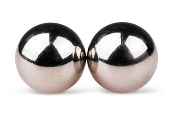 Серебристые вагинальные шарики без сцепки Ben Wa Balls