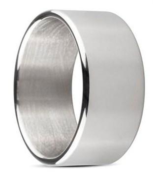 Серебристое эрекционное кольцо Sinner Wide metal head-ring Size L
