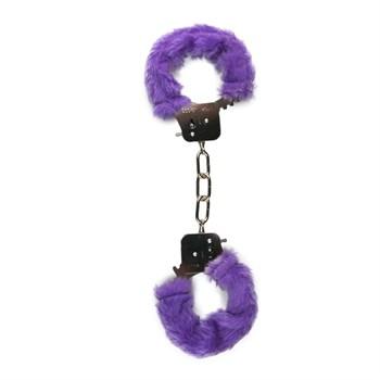 Наручники с фиолетовым мехом Furry Handcuffs