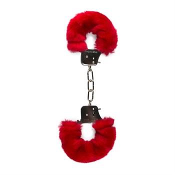Наручники с красным мехом Furry Handcuffs