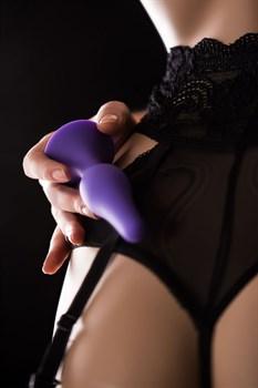 Фиолетовая анальная пробка - 12,5 см.