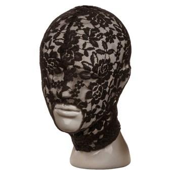 Черный кружевной шлем-маска Lace Hood