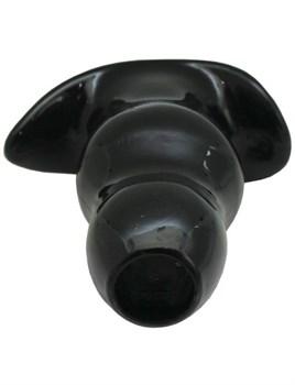 Черная анальная пробка с тоннелем - 15 см.