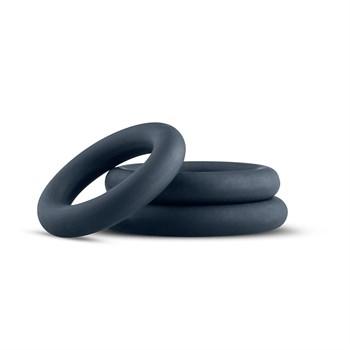 Набор из 3 темно-серых эрекционных колец