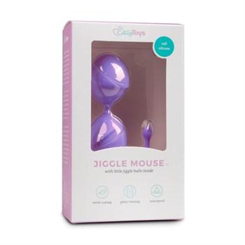 Фиолетовые вагинальные шарики Jiggle Mouse