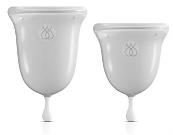 Набор из 2 прозрачных менструальных чаш Intimate Care Menstrual Cups