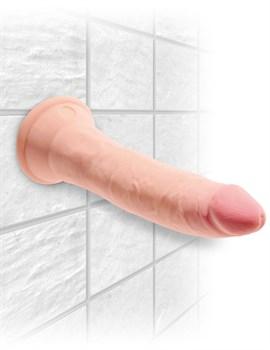 Телесный фаллоимитатор на присоске 7  Triple Density Cock - 21 см.