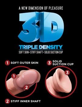 Телесный фаллоимитатор на присоске 6,5  Triple Density Cock - 20,3 см.