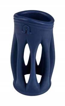 Синяя ребристая насадка на пенис Maximum L