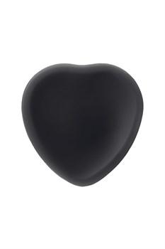 Черный фаллос на присоске Silicone Bendable Dildo M - 18 см.