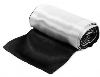 Черно-белая атласная лента для связывания - 1,4 м.