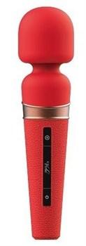 Красный жезловый вибростимулятор Titan - 21 см.