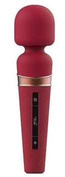 Бордовый жезловый вибростимулятор Titan - 21 см.
