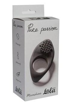 Черное эрекционное виброкольцо Pure Passion Moonshine