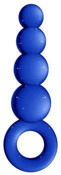 Синяя анальная пробка Chrystalino Tickler - 12 см.
