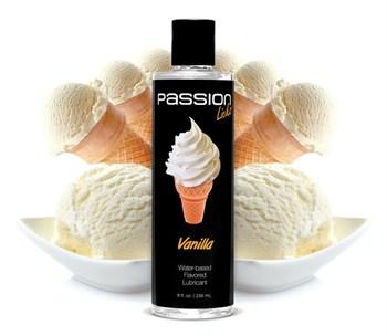 Смазка на водной основе Passion Licks Water Based Flavored Lubricant с ароматом ванили - 236 мл.
