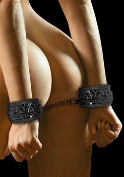 Черные наручники Luxury Hand Cuffs