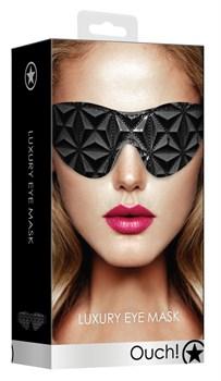 Черная маска на глаза закрытого типа Luxury Eye Mask