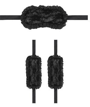 Черный игровой набор Introductory Bondage Kit №7