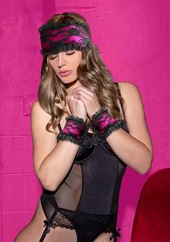 Розово-черный игровой набор Introductory Bondage Kit №7