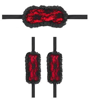 Красно-черный игровой набор Introductory Bondage Kit №7