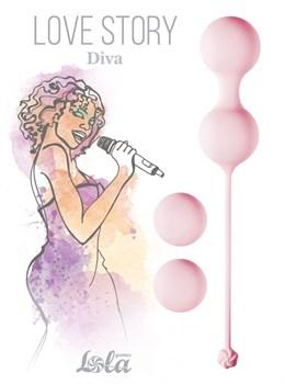 Набор розовых вагинальных шариков Love Story Diva