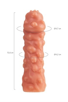 Насадка на фаллос с крупными бугорками EXTREME SLEEVE - 15,6 см.