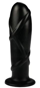 Черный анальный фаллоимитатор SMOOTH TORPEDO - 20 см.