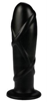Черный анальный фаллоимитатор SMOOTH TORPEDO - 18 см.