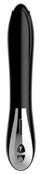 Черный вибромассажер MAGIC BLACK TULIP - 22 см.