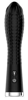 Черный вибромассажер TWIRLING TWILIGHT - 12,5 см.