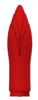 Красный клиторальный стимулятор SIRONA - 10 см.